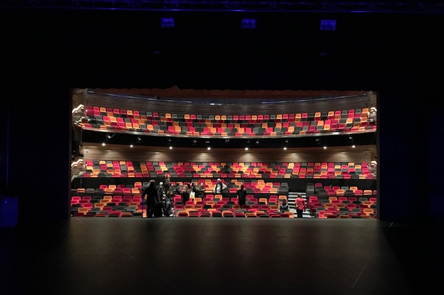Interior of Moller-designed ASB Waterfront Theatre, part of the NZGBC & <em>Interior</em> magazine Walking Tour in Auckland on Sunday 25 September.