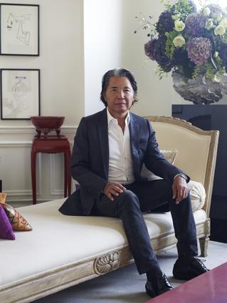 Fashion designerKenzo Takada in his Paris apartment.