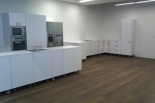 Model your kitchen plan at 1:1 scale at the new Blum showroom.