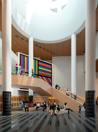 The ground floor of the extension to the San Francisco Museum of Modern Art.