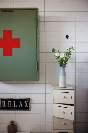 A corner of the bathroom.