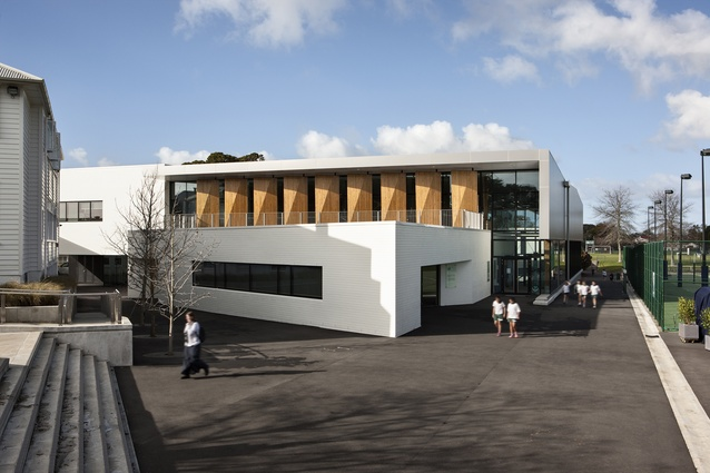 Education Award: St Cuthbert's College Centennial Centre for Wellbeing, Epsom by Architectus and Architecture HDT in association.