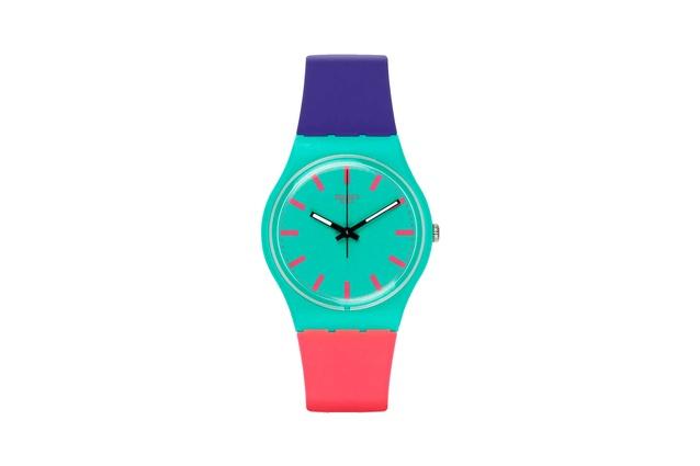 """Swatch Shunbukin I $85 from  <a  href=""""https://www.swatch.com/en/watches/gg215-shunbukin/"""" target=""""_blank""""><u>swatch.com</u></a>"""