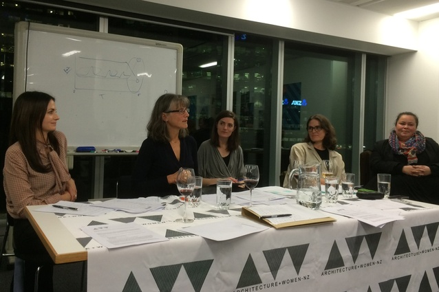 Megan Rule speaking at the A+W•NZ AGM 2016.