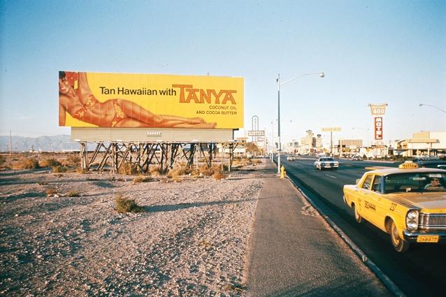 Tanya Billboard on the strip, Las Vegas, 1968.