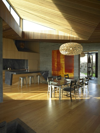 Te Kaitaka Lake Wanaka Retreat by Stevens Lawson Architects.