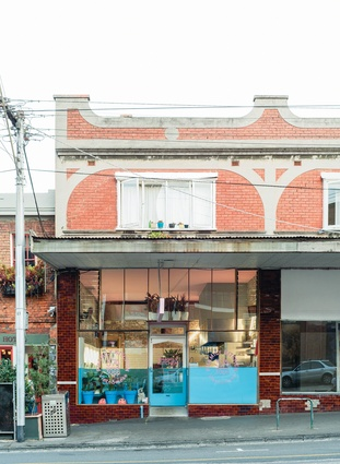 With its bold use of colour, Phamily Kitchen unabashedly makes its mark on Collingwood's streetscape.