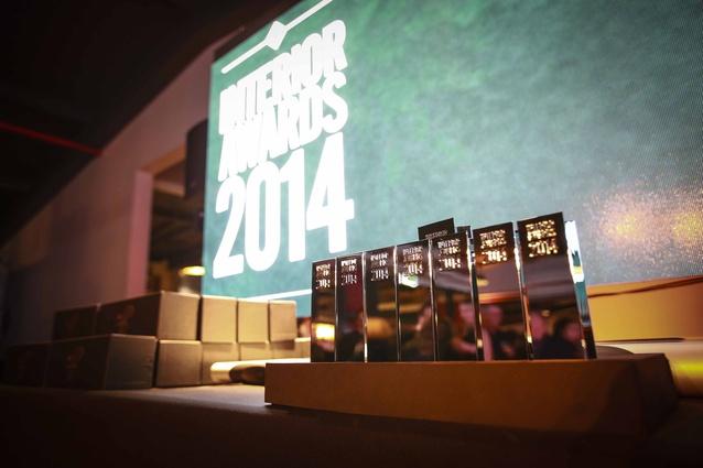 Interior Awards trophies.