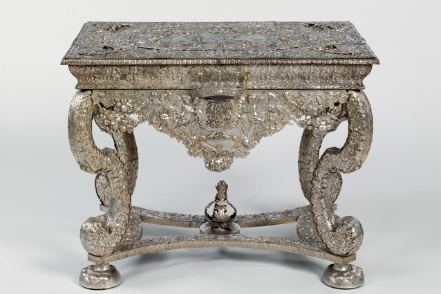 Replica of the Knole Table, after a silver original by Gerrit Jensen, c.1680. Electrotyped copper by Franchi and Son, 1868.