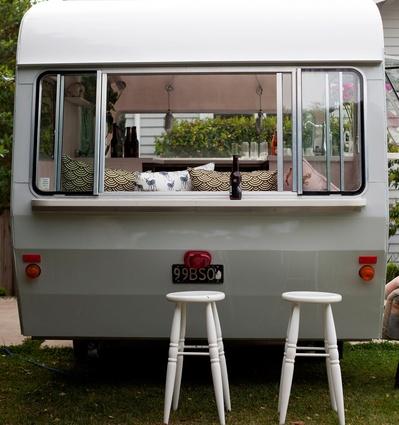 The van's exterior.