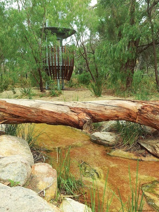 The tree hides are designed to immerse visitors in the landscape.
