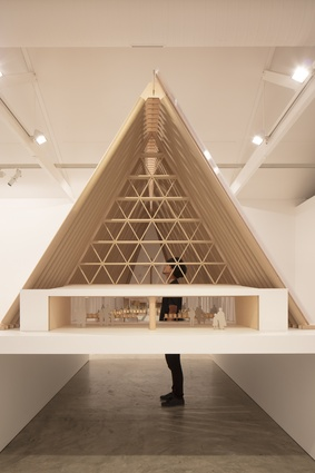 The inventive work of Shigeru Ban exhibition at the Sherman Contemporary Art Foundation.