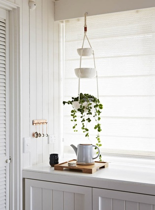 The kitchen with simple, beautiful detail.
