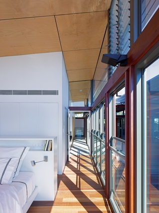 The long central hallway is based on the design of a Queenslander verandah.