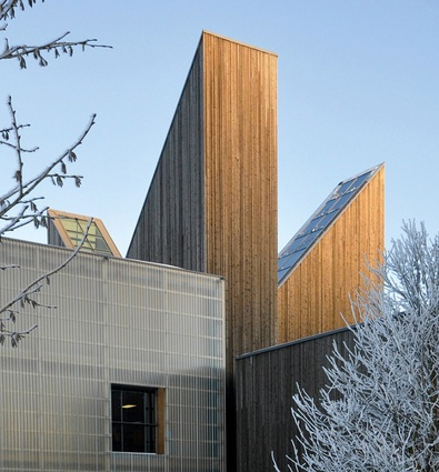 Bok and Blueshuset, a cultural centre in Notodden, Norway by Askim/Lantto Arkitekter, discussed by Ingerid Helsing Almaas.