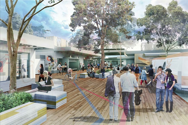 The pop-up village will consist of a series of temporary structures housing venues for food, retail, services and music performances.