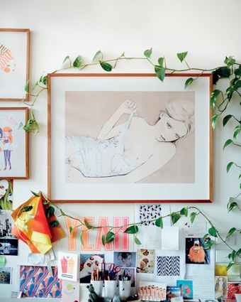 "Lilli print: ""Lilli was the first illustration I did that made me feel like I had really achieved something stylistically""."