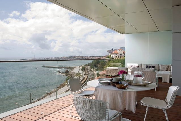 The 55m<sup>2</sup> undercover terrace is a generously sized entertaining area that has breathtaking ocean views.
