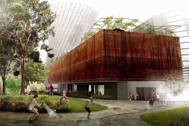 Felix Laboratories' (Fremantle) shortlisted proposal for Green Square Library and Plaza.