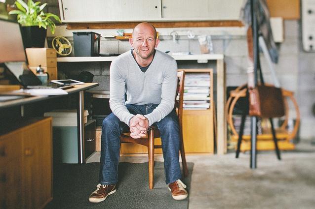 Dan Gillingham in his workroom at home in Mount Maunganui.