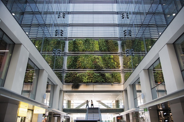 The atrium of the Westpac building.