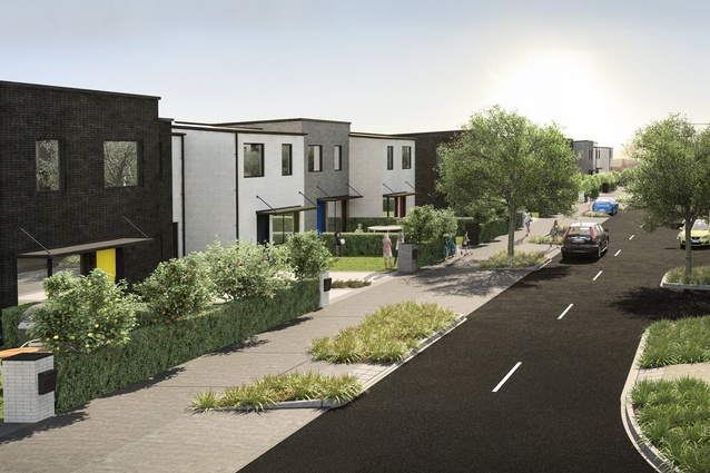 Render of the proposed terrace housing in Market Cove.