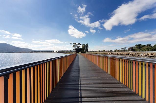 Walls along the bridge at GASP! provide shelter and direct views.