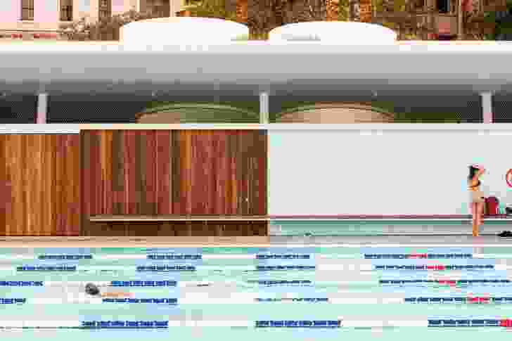 New but nostalgic: colours, material and form speak of pools past.