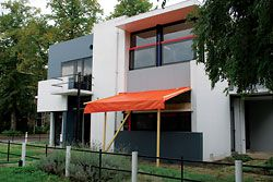 Restoration work on Gerrit Reitveld's public housing in Utrecht.
