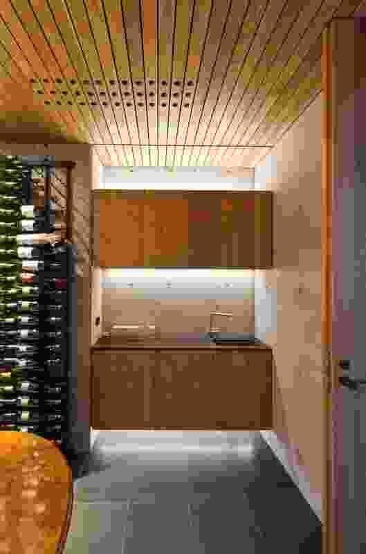 Wet bar and cellar.