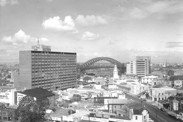 The existing North Sydney MLC building by Bates Smart and McCutcheon, completed in 1956.