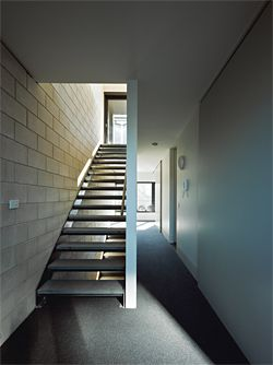 Internal stair. Each of the seven apartments is configured differently.Image: Peter Bennetts.