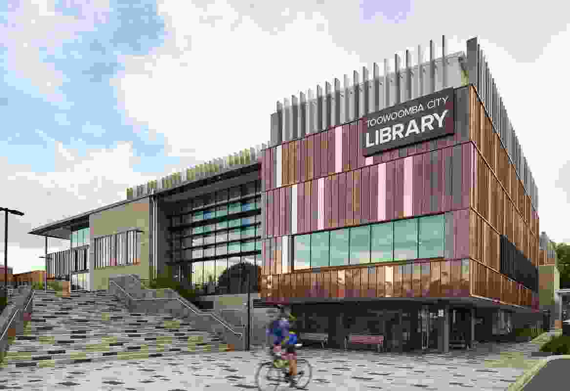 Toowoomba City Library by James Cubitt Architects and Peddle Thorpe in Association, with Elia Architecture