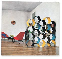The Taglietti apartment in Milan, published in Domus, no 292 (March 1954).