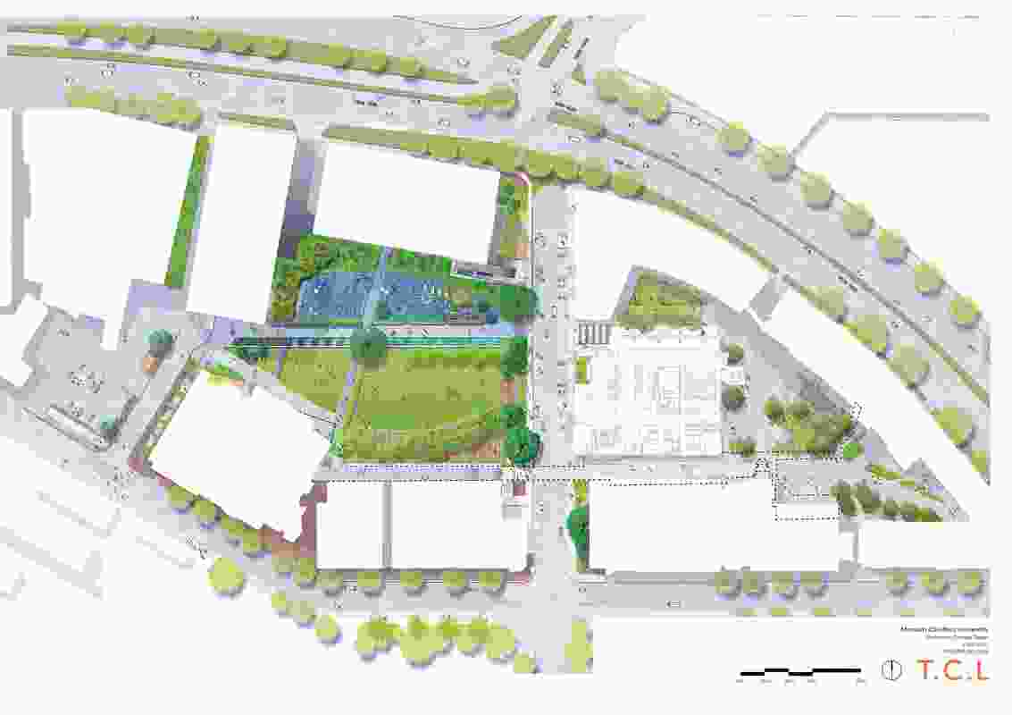 Monash University Caulfield Campus Green Site Plan.