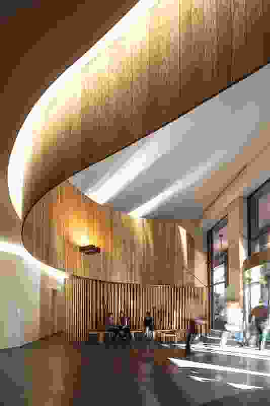 Woods Bagot redesigned the foyer of the Carrington St building.