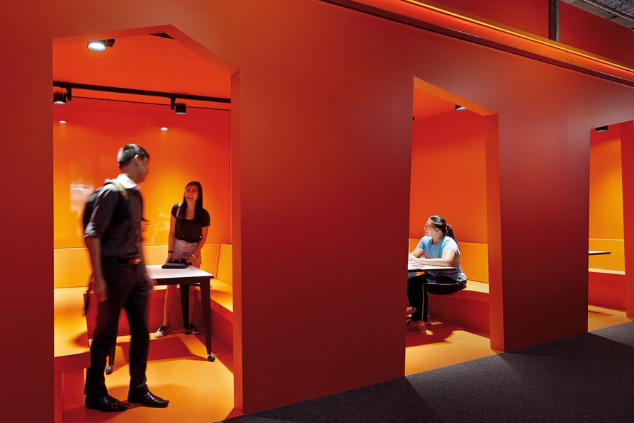 MUSE provides students with a range of spaces that can be used for group learning or individual contemplation.