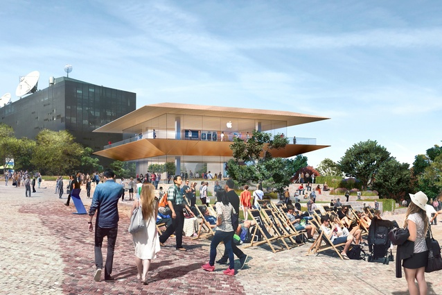 The proposed Apple Federation Square store by Foster and Partners.