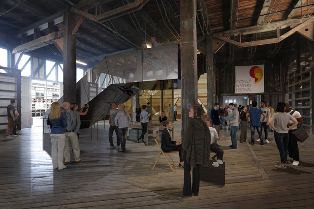Ground floor Foyer of the proposed Walsh Bay Arts Precinct redevelopment by Tonkin Zulaikha Greer.