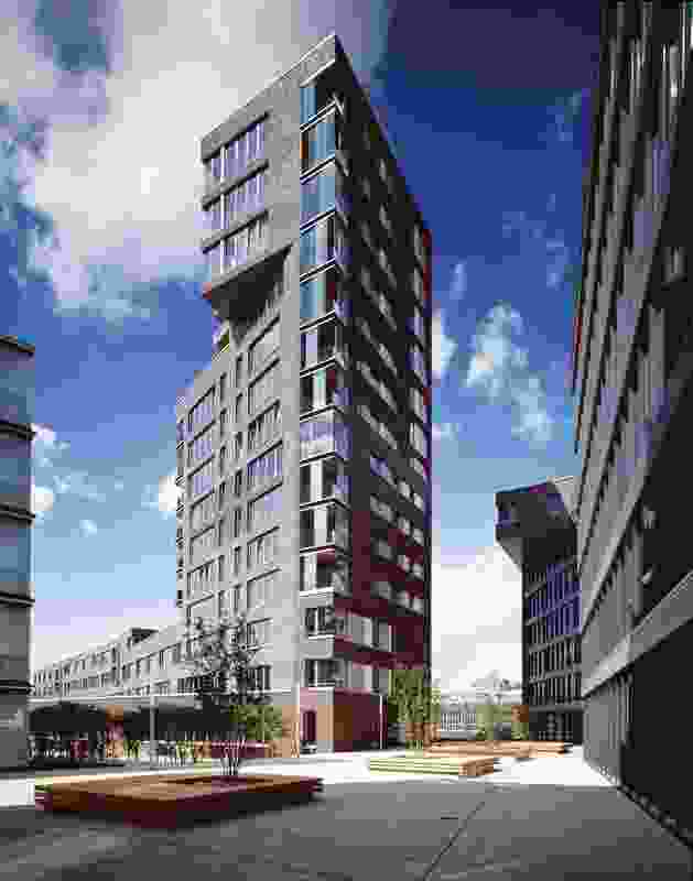 Masterplan + Housing Tower, Falkenried, Hamburg, Germany, 2004.