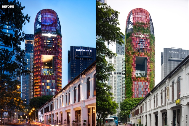 Oasis (Downtown) Hotel by STX Landscape Architects, Singapore.