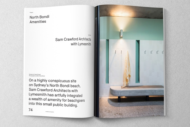 North Bondi Amenities designed by Sam Crawford Architects with Lymesmith.