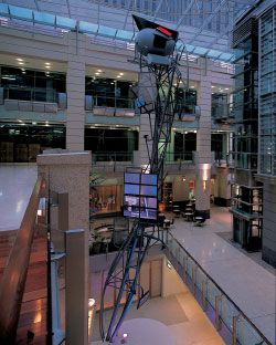 Exoskeleton Tower Reach, Galleries Victoria, 2000. Photographer: Anthony Browell.