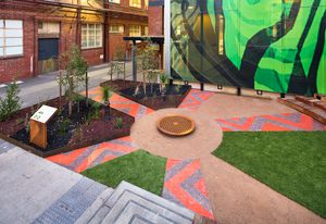 Ngarara Place at RMIT city campus by Greenaway Architects.