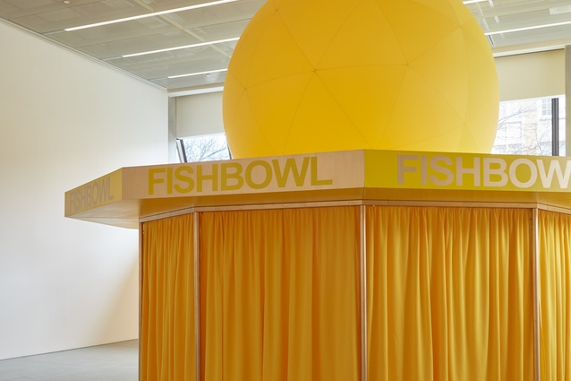 The Australian Ugliness is housed in a Wowowa-deisgned installation inspired by Robin Boyd's Neptune's Fishbowl restaurant.