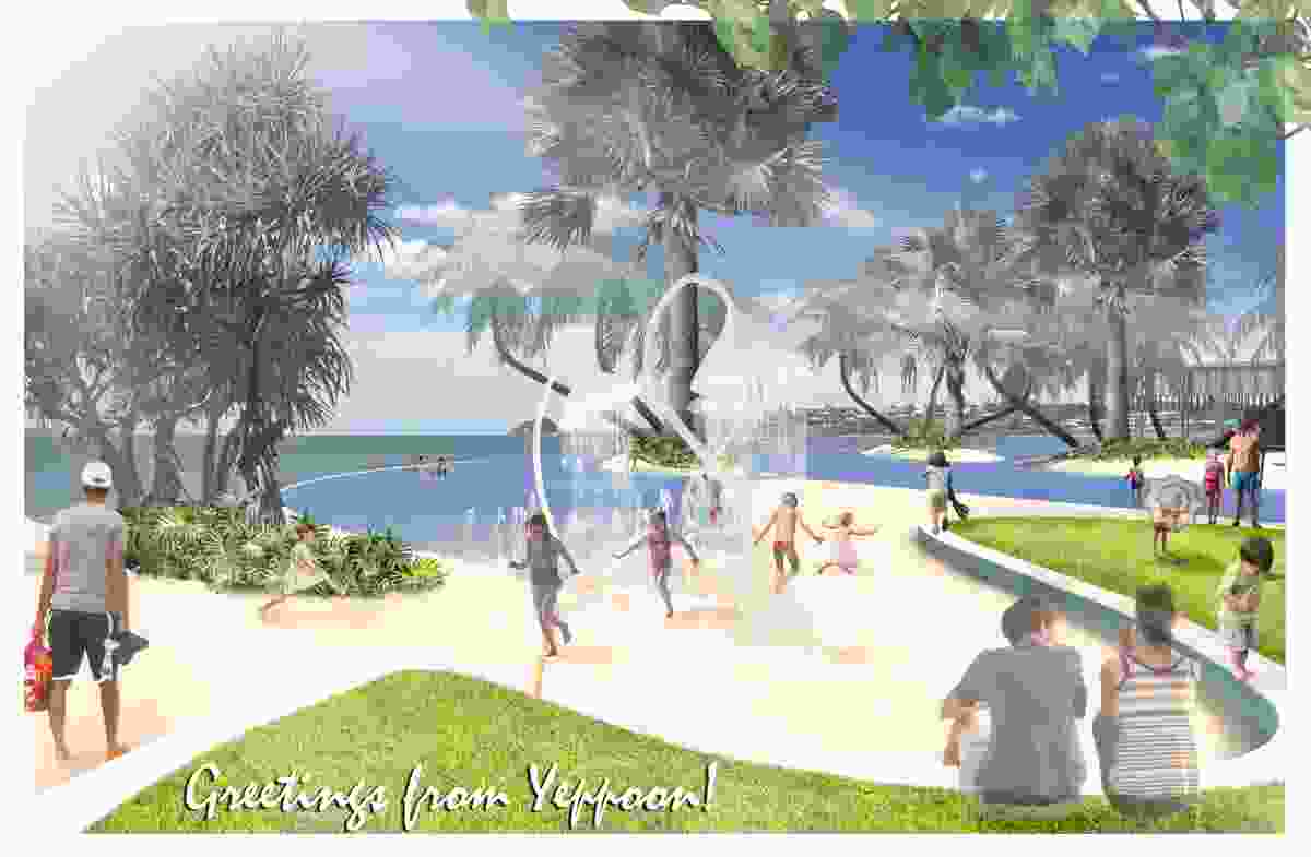 The proposed Yeppoon foreshore revitalization by Taylor Cullity Lethlean centres around a new lagoon with an infinity edge.