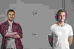 Alec Balcombe (left) and David Houbaer (right) of Dhab Studios.