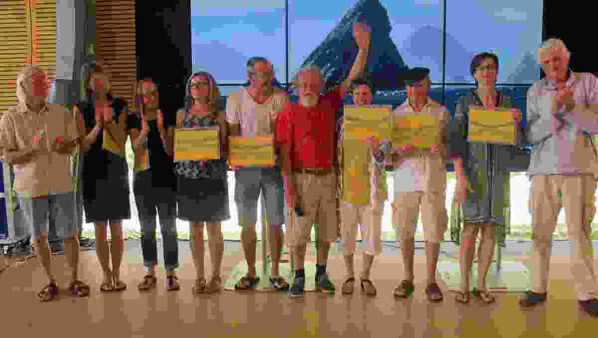 Deerubbin 2016 speakers, from left: Peter Stutchbury, Lene Tranberg, Brit Andresen, Christine Major, Antoine Perrau, Lindsay Johnston, Julie Stout, Gabriel Poole, Ingerid Helsing Almaas and Richard Leplastrier.