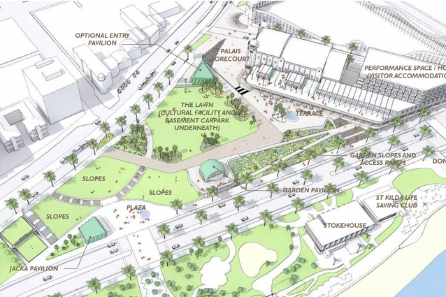 Open space features more strongly in the new draft masterplan, with almost 20,000 square metres allocated to a number of green spaces.