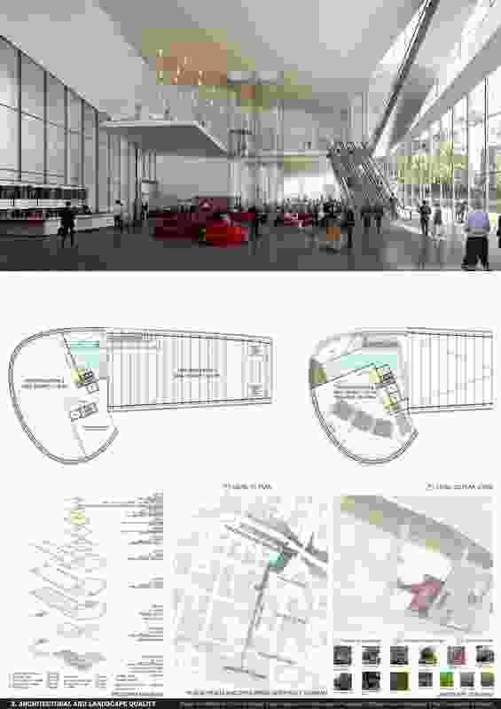 Powerhouse Parramatta proposal by Steven Holl Architects (United States) and Conrad Gargett (Australia).